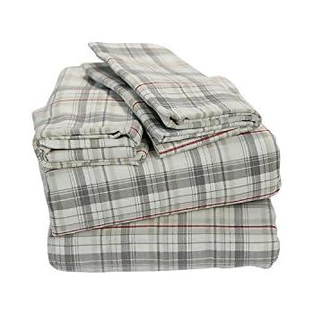 Amazon Com Eddie Bauer Style Queen Flannel Sheet Set 100