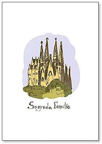 World Famous Landmark. Sagrada Familia Barcelona, España - Imán clásico para nevera: Amazon.es: Hogar