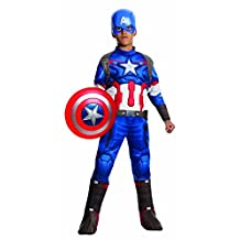 Rubies Costume Avengers 2 Age of Ultron Child's Deluxe Captain America Costume, Small