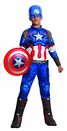 Muscle Girl Costume (Rubie's Costume Avengers 2 Age of Ultron Child's Deluxe Captain America Costume, Small)