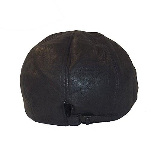 Chapeau-tendance - Casquette façon vieux cuir noir - - Homme