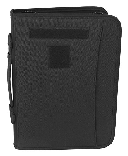 Battle Ready Black Military Zippered 3 Ring Binder And Padfolio Blk Three Ring Binder