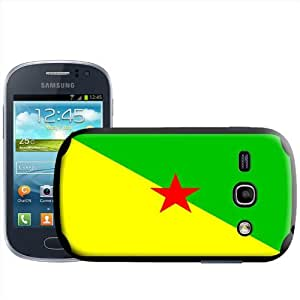 Fancy A Snuggle - Carcasa para Samsung Galaxy Fame S6810, diseño de bandera de la Guyana Francesa