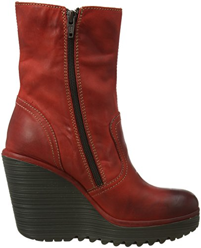 Fly London Conn791fly, Stivali Donna Rosso (Red)