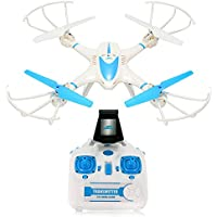 RCtown  FPV Drone RC Quadcopter with Wifi Camera Live Video Headless Mode 2.4GHz 4 Chanel 6 Axis Gyro RTF RC Quadcopter, Compatible with 3D VR Headset (DRAGONKNIGHT1)