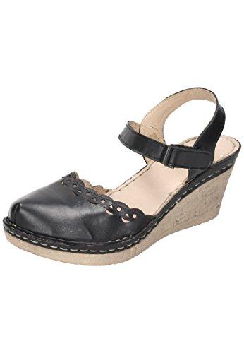 Manitu-Damen Damen-Sandalette Blau 910779-5, Grösse 38