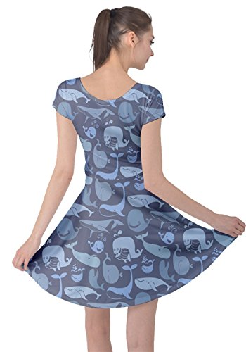 Womens Xs Polpo 5xl Animale Mare Manica Cowcow Squalo Balene Abito Di Balenottera Pinguini Marino Oceano Corta Azzurra Granchio 776qrfx