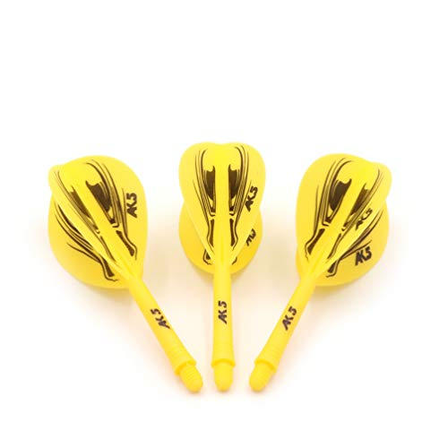 Black Scorpion CUESOUL ROST Integrated Dart Shaft and Flights Pear-Teardrop Shape,Set of 3 pcs Dragon Pattern