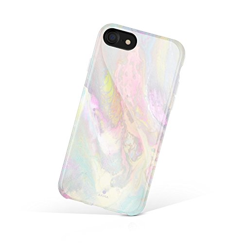 (iPhone 8 & iPhone 7 case Watercolor, Akna Collection Flexible Silicon Cover for Both iPhone 8 & iPhone 7 (830-U.S))