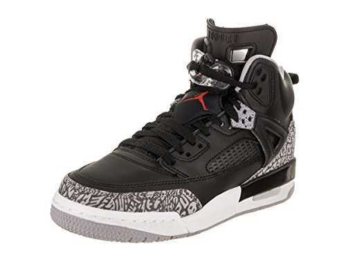 (Jordan Nike Kids Spizike BG Black/Varsity Red Cement Grey Basketball Shoe 4 Kids US)