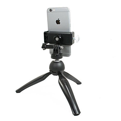Livestream Gear - Smartphone Tripod Setup for Streaming or Video Recording, Vlogging, to Fit Regular Sized Devices. Also Works with Sport Cameras Like GoPro. (Md. Device Black) by Livestream