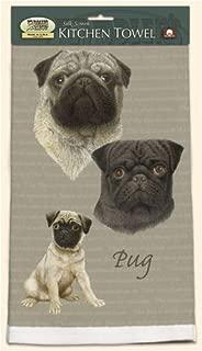 product image for David Kiphuth Dog Breed Kitchen Towel--Pug
