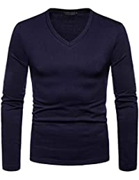 Men's Autumn Winter Thermal Bottoming Shirt Long Sleeve Fleece Lining Slim Fit V-Neck Tops Shirt