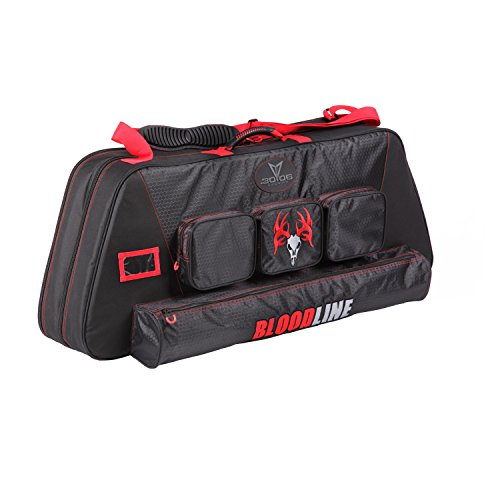 30-06 Outdoors Bloodline Signature Series Double Compound Bow Soft Case, 42 Inch, Black/Red Compact Double Bow Case