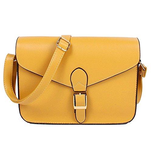 Women'S Handbag Messenger Bag Preppy Style Envelope Bag Shoulder Bag Briefcase Yellow