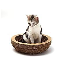 Cat Scratcher Cardboard ,Myguru Kitty Cat Scratching Pad Lounger Toy (Round)