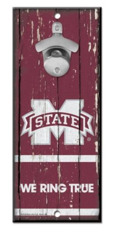 - WinCraft NCAA Mississippi State University Bulldogs Wood Bottle Opener Sign, 5