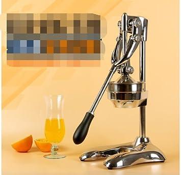 Una máquina manual de acero inoxidable de Granada exprimidor exprimidor de zumo naranja jugo de frutas de la mano de presión de uso doméstico: Amazon.es: ...