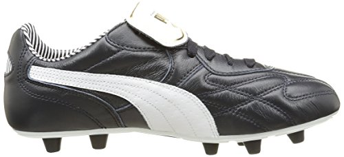 Puma Herren King Top Stripe Di F Fußballschuh Bleu (New Navy/White/Gold)