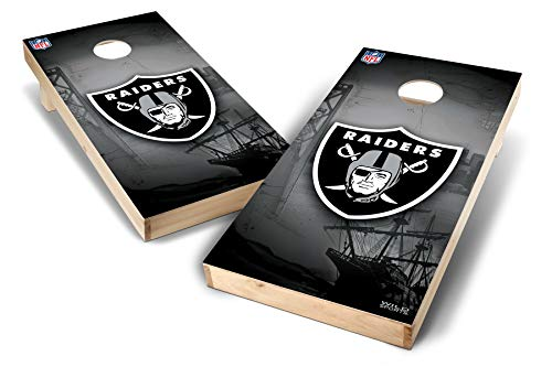 PROLINE NFL Oakland Raiders 2'x4' Cornhole Board Set - Wild Design