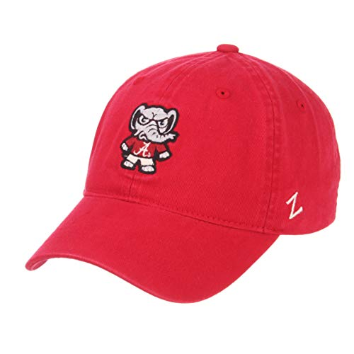 Zephyr NCAA Alabama Crimson Tide -Adult Shibuya Relaxed Cap, Adjustable, Dark ()