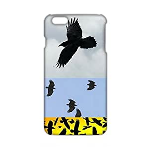 2015 Ultra Thin 3D Case Cover Black Eagles Phone Case for iPhone6 plus by runtopwell