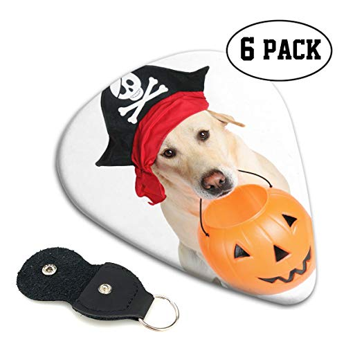 Nice Music Pets Halloween Pirate Dog Ultra Thin 0.46 Med 0.71 Thick 0.96mm 4 Pieces Each Base Prime Celluloid Ivory Jazz Mandolin Bass Ukelele Plectrum Guitar Pick Pouch Display]()