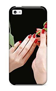 Case For Iphone 6 4.7Inch Cover PC Phone Case Cover(hands Rose Dark Around Red Nature Flower)