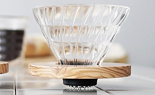Hario V60 Glass Coffee Dripper, Size 01, Olive Wood by Hario (Image #2)