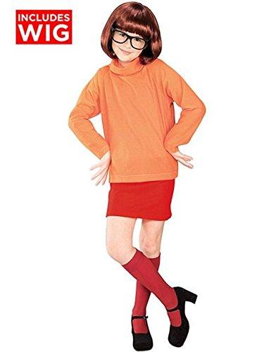 Velma Dress Up (Velma Child Costume - Large)
