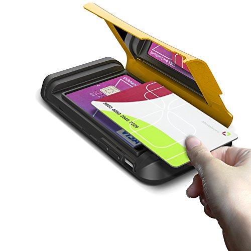 Verus Damda Veil harte Schutzhülle mit Kickstandfunktion, eingebautem Spiegel und Kartenhalter für Apple iPhone 6 Special Yellow