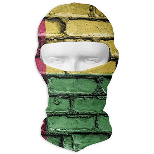 Guinea-Bissau Flag Banner Bricks Wall Outdoor Cycling Ski Motorcycle Balaclava Mask Sunscreen Hat Windproof Cap
