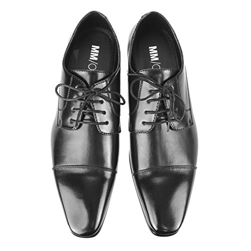 Shoes up MM Mens Oxford Shoes Collection Mpt125 Derby Lace Intorechato ONE 12 Black wxFR6nx0