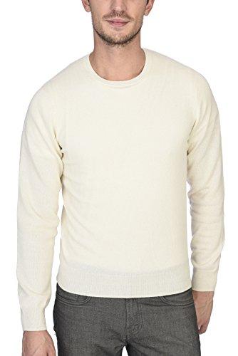 Manica Lunga Girocollo Uomo 100 Puro A Con Bianco Cashmere Pullover State FRYwf1q