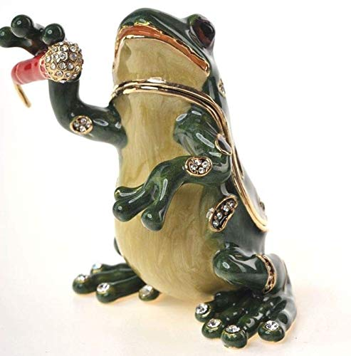 Keren Kopal Singing Frog Musical Faberge Styled Animal for sale  Delivered anywhere in USA