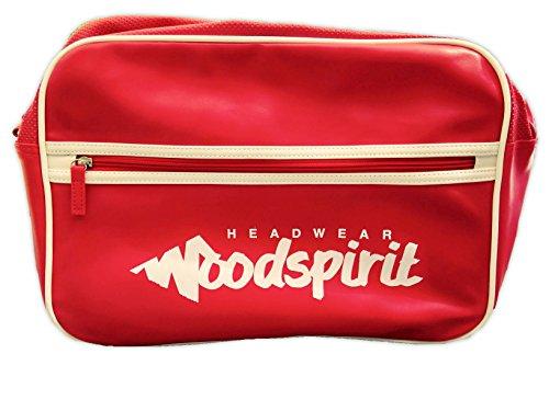 Bolsa de transporte con bolsillo de cremallera, diseño WOODSPIRIT rojo