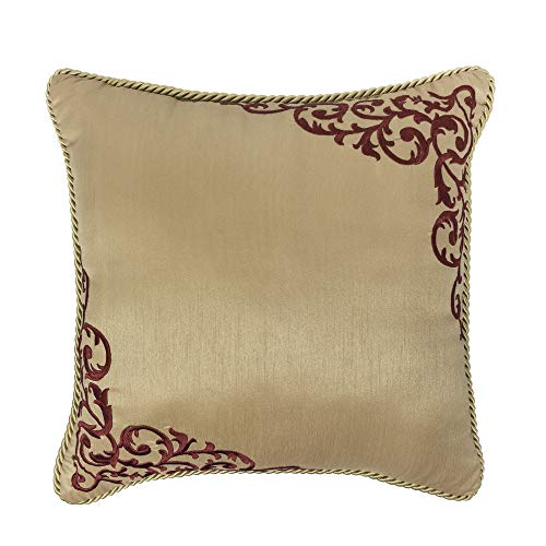 Croscill Roena Fashion Pillow, Burgundy