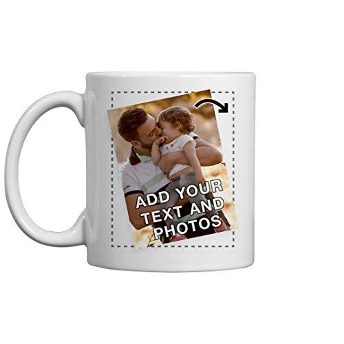 Personalize a Custom Printed Photo or Logo Mug: 11oz Ceramic Coffee Mug