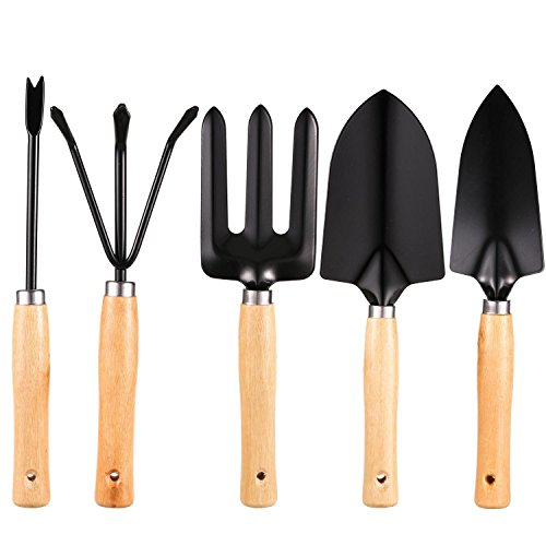 Homdox 7 Piece Garden Tool Set. Kit Includes Detachable Storage Tool Bag, Folding Stool Seat and 5 Stainless Steel Gardening Tools by Homdox (Image #5)