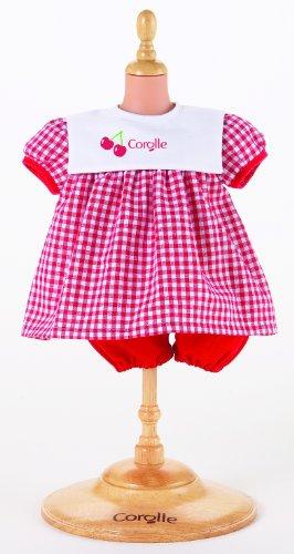 """Corolle Mon Premier 12"""" Doll Fashions (Red Dress Set)"""