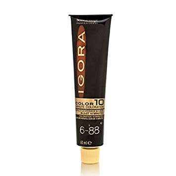 824cff4a86 Schwarzkopf Professional Igora Color10 Hair Color 6-88 Darl Blonde Red Extra:  Amazon.co.uk: Beauty