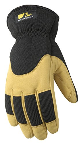 Men's Insulated Winter Gloves with Synthetic Leather Palm, Extra Large (Wells Lamont 7092XL) ()