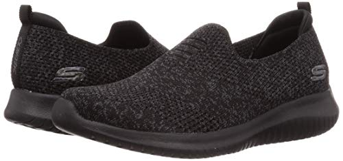 Skechers Women's Ultra Flex-Harmonious Sneaker, Black, 10 M US