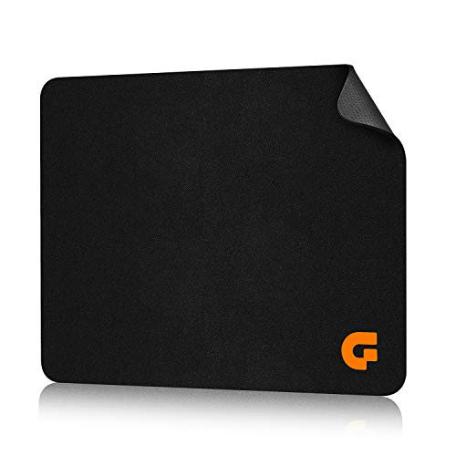 Mouse Pads for Computers,Laptop Mouse-Pads for Gaming Office Rubber Base Mousepad Black Mouse Mat for PC Non-Slip Mice Pad