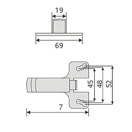 SO-TECH/® Aufschraub-System f/ür Topfband T/ürd/ämpfer Silent Topfband-D/ämpfer T/üranschlagd/ämpfer