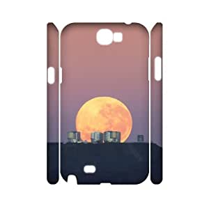 3D Cases for Samsung Galaxy Note 2, Moon 32 Cases for Samsung Galaxy Note 2, Vinceryshop White