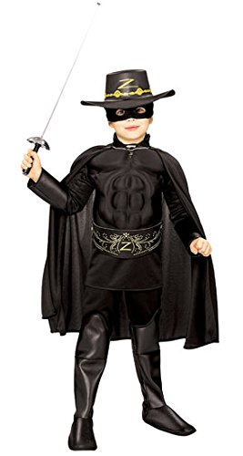 Zorro Muscle Chest Deluxe Child Costume size 7/8 -