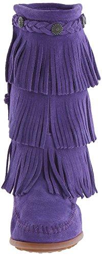 layer Unisex Bambini Viola Stivali 3 Fringe Mocassini Purple Minnetonka 5HqUXgw