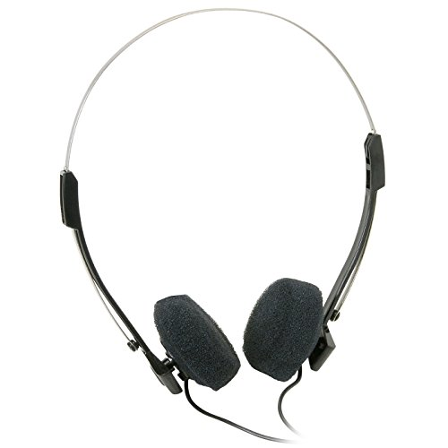 Parts Express Mini Stereo Lightweight Headphones with 4 ft. Cord]()
