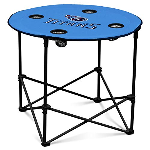 (Tennessee Titans  Collapsible Round Table with 4 Cup Holders and Carry Bag)